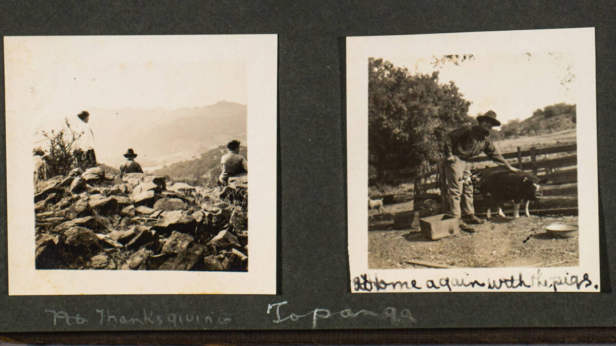 Photo Album Preserves Memories of Thanksgiving in Topanga in 1917